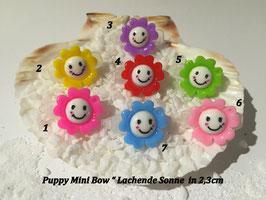 "HundeHaarSpange Mini Puppy Bow   "" Lachende Sonne    """
