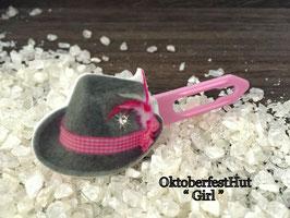 "HundehaarSpange  "" Oktoberfest Motiv "" WiesenHut rosa/pink Nr 2 """