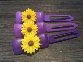 "Hundehaarspange  Blume "" Big Daisy Gelb Nr. 1 """