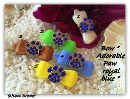 """HundeHaarSpange mit MetallApplikation """" Special Edition Paw Royal Blue  """""""