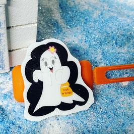 """Halloween Bunte Motivspange """" Geist / Ghost Hui Puh 1A """""""