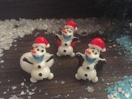 Zopfgummi: FROSTY mit Weihnachtsmütze
