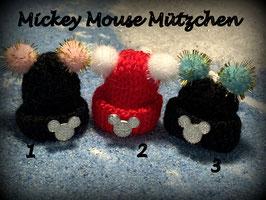 Wintermützchen MickeyMouse Kopf Nr  3er SET