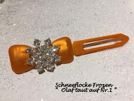HundehaarSpange Schneeflocke Frozen Olaf taut  auf Nr. 1