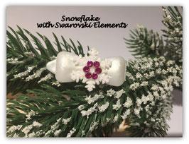 """Snowflake """" White Glamour """" Pink """" mit Swarovski Elemente"""