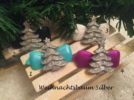 """HundeHaarSpange """" Weihnachtsbaum  Silber Glitzer  """""""