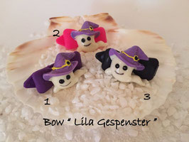 "Bunte Halloween HundehaarSpangen "" Nr  4 Lila Gespenst """