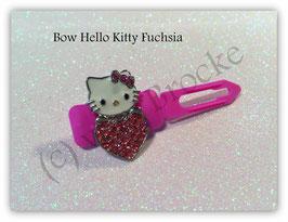 "HundeHaarSpange  Hello Kitty "" Kitty Heart Rhinestone Fuchsia """