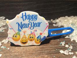 """Silvester MotivHundeHaarSpange """" Trörööööööööööö Happy New Year """""""
