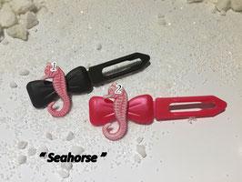 """HundehaarSpange Meer  """" Seepferdchen rosa/ Seehorse """""""