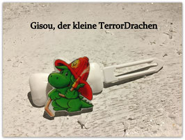 """Motiv HundeHaarSpange """" Gisou, der kleine TerrorDrache  """""""