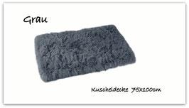 """Kuscheldecke """" super  flauschig """" grau """""""