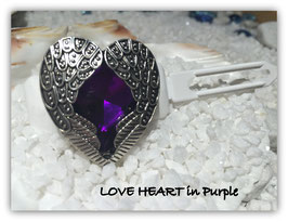"HundeHaarSpangen "" Valentine´s Day LOVE Purple Heart """