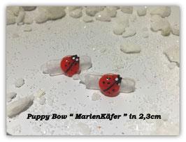 "HundeHaarSpange Mini Puppy Bow   "" Marienkäfer rot    """