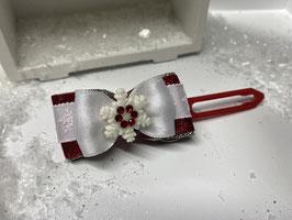 SchneeflockenSchleife rot 6
