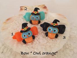 "Bunte Halloween HundehaarSpangen "" Nr  20 OWL  orange """