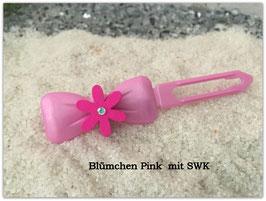 """Sommerblumen  HundehaarSpange """" Blume Pink  mit SWK """""""