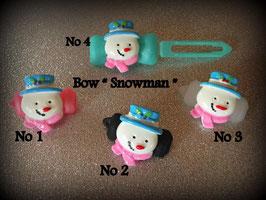 "HundehaarSpange  "" Funny  Snowman  """
