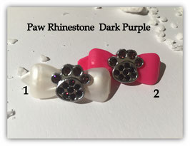 """HundeHaarSpange mit MetallApplikation """" Special Edition Dark Purple  """""""