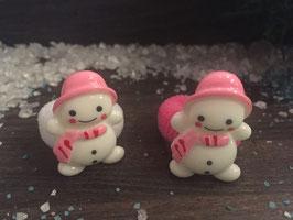 Zopfgummi: Schneefrau rosa