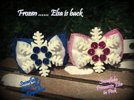 SchneeflockenSchleife  Prinzessin Elsa is back Nr . 1 blau und 2 rosa