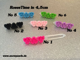 """HundeHaarSpange Orchideen-Rose Nr. 6  """" 3er Rose-Time """""""
