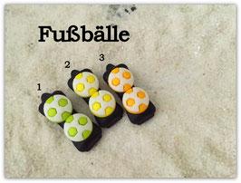 """HundehaarSpange  """" 2er Fußball auf schwarzer Spange  grün/zitronengeb/gelb SetNr 4 """""""