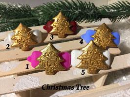 """HundeHaarSpange """" Weihnachtsbaum GOLD """""""