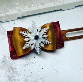 SchneeflockenSchleife in gold 1