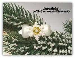 """Snowflake """" White Glamour """"  Bernstein   """" mit Swarovski Elemente"""