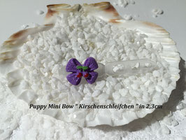 """HundeHaarSpange Mini Puppy Bow   """" Kirschenschleifchen  """""""