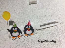 "HundeHaarSpange  Pinguin  "" Doppelbirthday   """