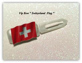 "HundeHaarSpange  "" MotivSpange  Schweiz Flagge """