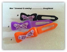 "Hundehaarspange  "" Sonnenbrille Crazy lila """