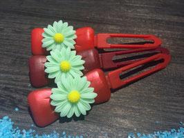 "Hundehaarspange  Blume "" Big Daisy Mint Nr. 1 "" """