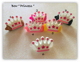 """HundehaarSpange """" Krone Prinzessin  in pink weiß """""""