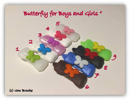 "HundehaarSpange "" 1er Schmetterlin / Butterfly for Girls and Boys """