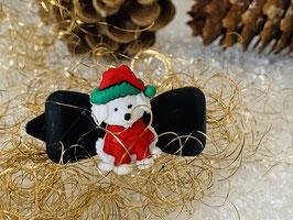 """Klassische WeihnachtshundehaarSpangen  """"  Weihnachtswuff  1 """""""
