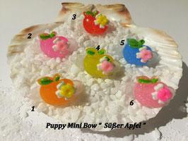 "HundeHaarSpange Mini Puppy Bow   ""  Süßer Apfel  """