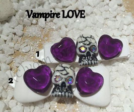 "HundeHaarSpange ""  Skull / Heart Vampire LOVE  No 3 """