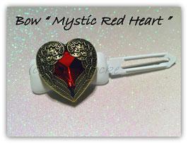 "HundeHaarSpange mit MetallApplikation  "" Mystic Red Heart """