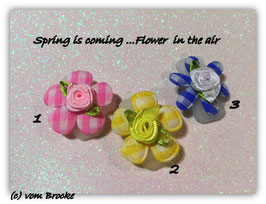"HundeHaarSpange Mini Puppy Bow   "" Flower in the air (1)   """