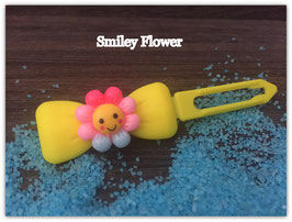"HundehaarSpange Sonne   "" Smiley Flower Nr . 5 """