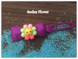 "HundehaarSpange Sonne   "" Smiley Flower Nr . 2 """