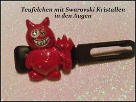 """HundehaarSpange """" Teufelchen mit SWK """""""