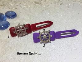 """HundeHaarSpange Metall Applikation  """" Ruder Nr 7 und 8 """""""