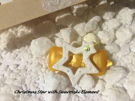 """HundehaarSpange """" Christmas Star White Glitter  Nr . 4"""