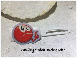 """Emotion / Smiley HundeHaarSpange  """" Dich meine ich """""""