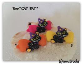 """Bunte Halloween HundehaarSpangen """" Nr  1 CAT - FAT """""""