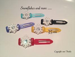 "HundeHaarSpange ""  Glamour Snowflake mit Swarovski Element """